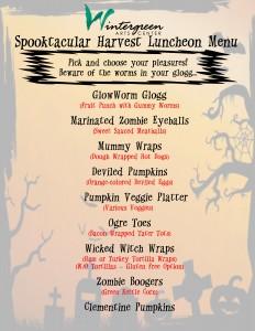 Spooktacular Harvest Luncheon Menu