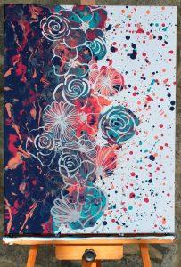 Caitlin Sanipass_Acrylic Pouring 18x24