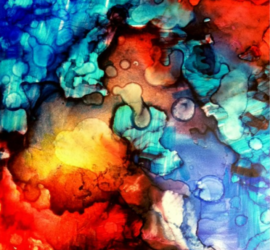 Alcohol ink and sharpie art