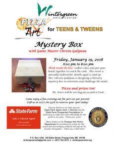 2018_01_19_Flyer_Pizza n Art for TEENS and TWEENS