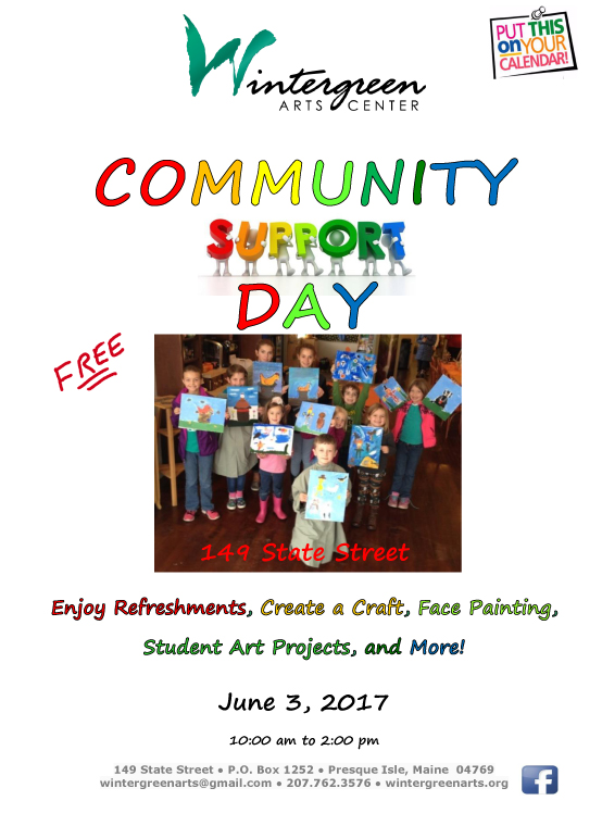 Community Support Day – Wintergreen Arts Center