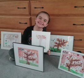 Artist Mia Dumont, Age 5
